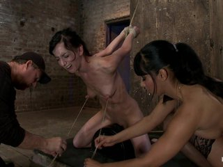 Elise Is Held Down By Will not hear of Own Huge Nipples, Held Light air A Sybianany Movement Is Nipple Pain - HogTied