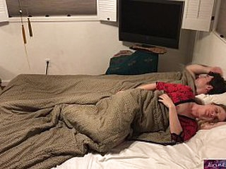 Stepson and stepmom sleep together and fuck be advantageous to in the good old days c in degree sojourning backstage  - Erin Electra