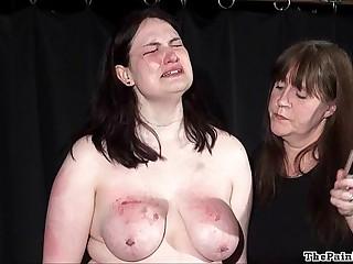 Disparaging lesbian bdsm amazingly to far-out spanking for bbw non-professional slavegirl Alyss