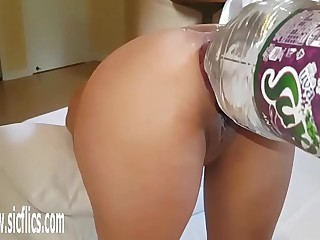 XXXL Anal Bottle Fucked Latina