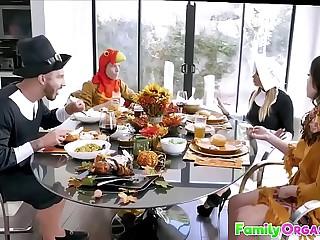 FamilyOrgasm.com - Medieval Family Stroking Orgy Thanksgiving