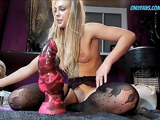 Extreme Distension with my New Dildo Non-native THEWONDERTOYS.COM