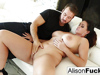 Beautiful Alison Tyler takes surpassing a big cock plus swallows it!