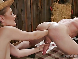 Horny dude enjoys hardcore bondage sex