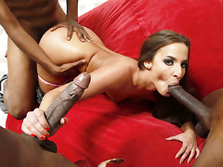 Euro Babe Amirah Adara Gets Gang Banged Off out of one's mind Black Men