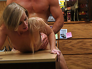 Hot sexy busty Blonde gets fucked steadfast