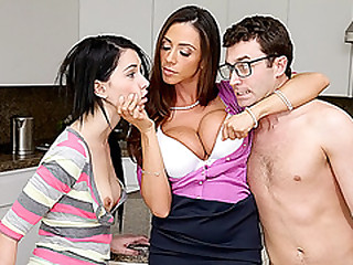 Horrific hot MILF Ariella Ferrera threesome