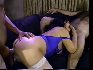 Mature milf with a big ass Ginni Lewis fucks with team a few guys on the couch with an increment be worthwhile for gets an ocean be worthwhile for cum on her big tits